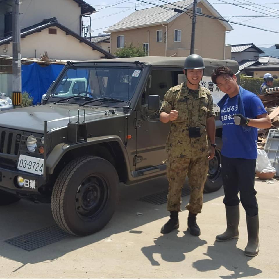 東日本豪雨 災害支援 ワンステップスクール 廣岡政幸 人道支援 ボランティア
