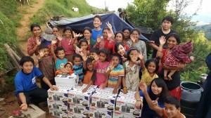 ネパール支援 物資提供
